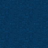 Dun van de Bedrijfs bankwezenlijn Financiën Donkerblauw Naadloos Patroon royalty-vrije illustratie