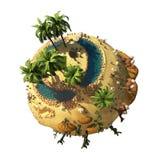 Duna 3D del planeta ilustración del vector