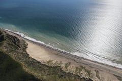 Duna de areia da borda da estrada da estrada da Costa do Pacífico de Malibu Foto de Stock Royalty Free