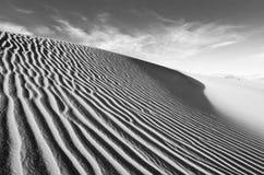 Duna de areia de Death Valley Foto de Stock