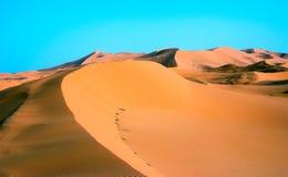 Duna de areia no ERG Chebbi em Marrocos Imagens de Stock
