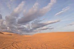 Duna de arena blanca Fotografía de archivo