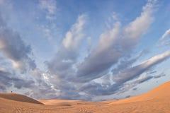 Duna de arena blanca Fotos de archivo