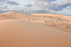 Duna de arena blanca Imágenes de archivo libres de regalías