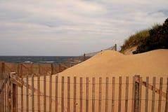 Duna de arena en bacalao de cabo Fotos de archivo
