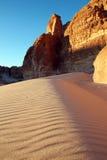 Duna de arena en montañas Imagen de archivo libre de regalías