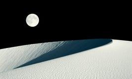 Duna de Barkhan y collage de la Luna Llena ilustración del vector