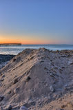 Duna della sabbia e della roccia Immagini Stock