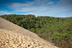 Duna di Pyla, il più alta duna di Europa Fotografie Stock Libere da Diritti