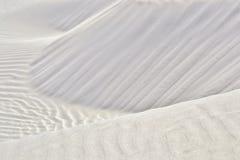 Duna di sabbia bianca Fotografia Stock