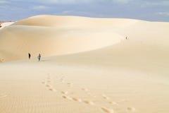 Duna di sabbia bianca Fotografie Stock Libere da Diritti