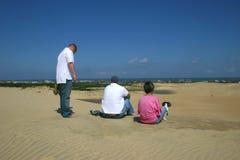 Duna di sabbia con una vista Fotografia Stock Libera da Diritti