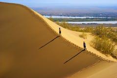 Duna di sabbia in deserto Fotografie Stock