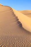 Duna di sabbia nell'alba nel deserto Immagini Stock Libere da Diritti