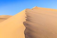 Duna di sabbia nell'alba nel deserto Fotografia Stock