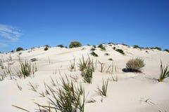 Duna e cielo di sabbia fotografie stock