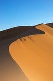Duna en el desierto de Sáhara Imágenes de archivo libres de regalías