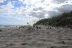 Duna na praia do mar Báltico, Hel, Polônia Imagens de Stock
