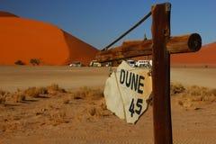 Duna 45, Namibia Fotografia Stock Libera da Diritti