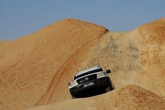 Duna que bashing, Sahara Desert, Tozeur, Tunísia Foto de Stock