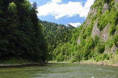 Dunajec河在Pieniny 库存照片