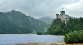 Dunajec castle royalty free stock image
