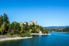 The Dunajec Castle in Niedzica royalty free stock photo