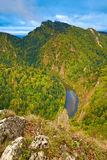 The Dunajec River Gorge in The Pieniny Mountains,  Stock Images