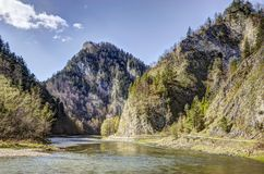 Dunajec river gorge in spring Royalty Free Stock Photography