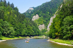 Free Dunajec River In Pieniny Mountains, Poland Stock Images - 61058634