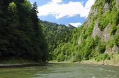 Dunajec river in Pieniny. Dunajec river in a Pieniny Stock Photo