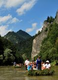 Dunajec river. In Pieniny Mountains in the  Poland Stock Image