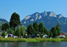 Dunajec river. In Pieniny Mountains in the  Poland Stock Photo