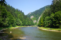 Dunajec river in Pieniny mountains, Poland Stock Images