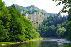 Dunajec river in Pieniny mountains, Poland Stock Photo