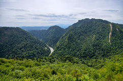 Dunajec river in Pieniny mountains - Poland Stock Photos