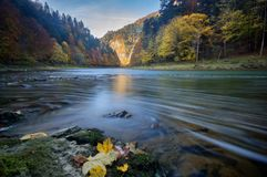 Dunajec river at Pieniny. National park, mountains in Slovakia Royalty Free Stock Images
