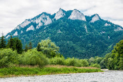 The Dunajec River in Poland. Mountains landscape. Royalty Free Stock Image