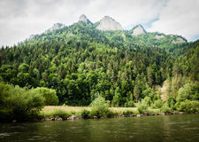 The Dunajec River in Poland. Mountains landscape. Royalty Free Stock Photos