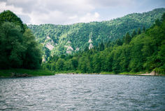 The Dunajec River in Poland. Mountains landscape. Royalty Free Stock Images