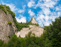 The Dunajec River in Poland. Mountains landscape. Royalty Free Stock Photo
