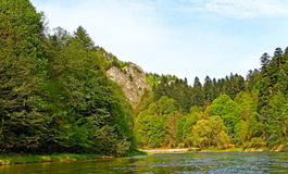 River Dunajec. Dunajec river between Slovakia and Poland Stock Images