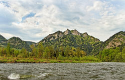 Dunajec river. royalty free stock photography