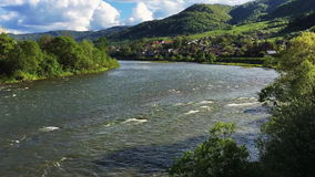 Dunajec river in Tylmanowa - Poland stock video footage