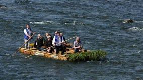 Dunajec som Rafting, Pieniny, Spis region, Slovakien Arkivfoton