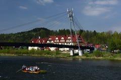 Dunajec transportant par radeau, Pieniny, région de Spis, Slovaquie Images stock