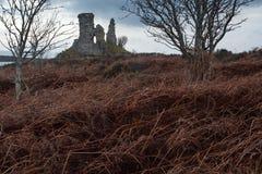 Dunakin Castle, Kyleakin Stock Image