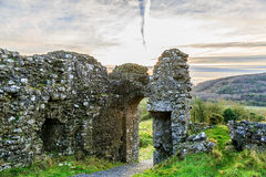 Dunamase castle ruins Royalty Free Stock Images