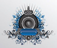 Dunamic sound. Created in illustrator CS3 Royalty Free Stock Image