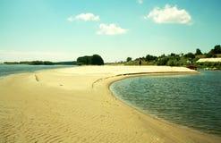 dunare дезертированное пляжем ближайше Стоковые Фото
